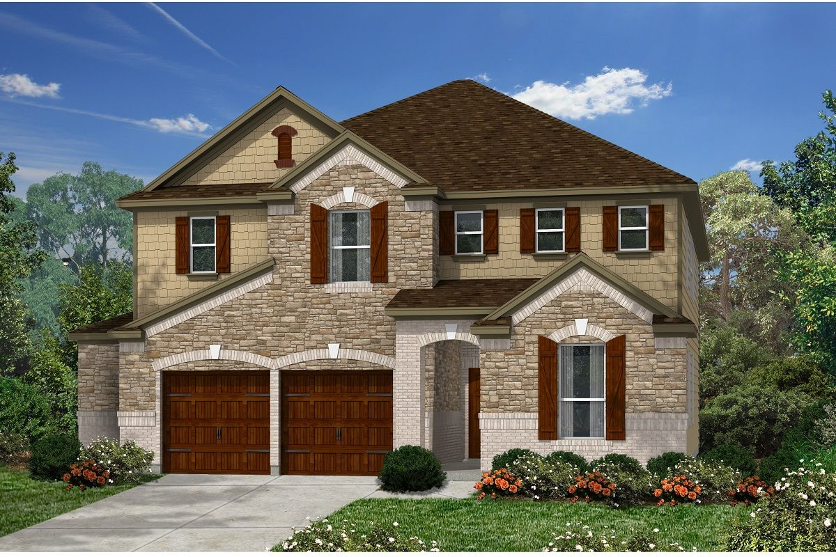 Exterior featured in the Plan 3475 By KB Home in Austin, TX