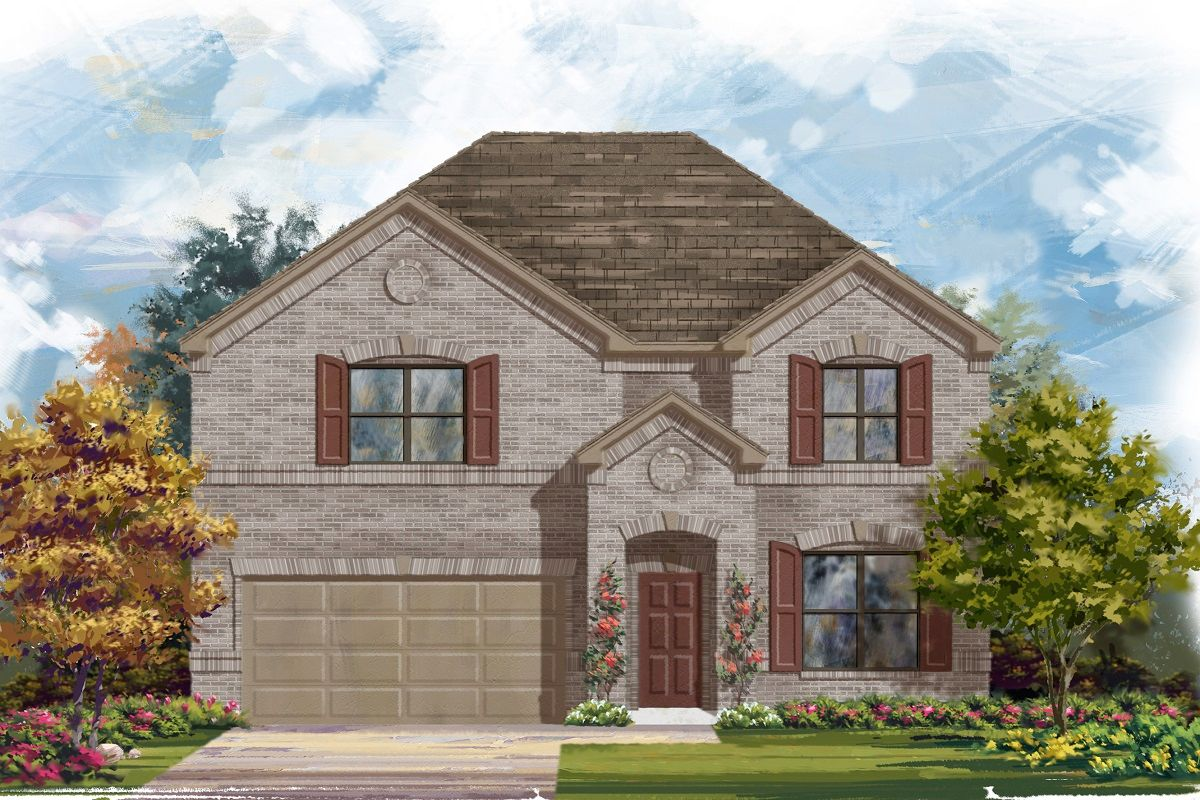 Exterior featured in the Plan A-2755 By KB Home in Austin, TX