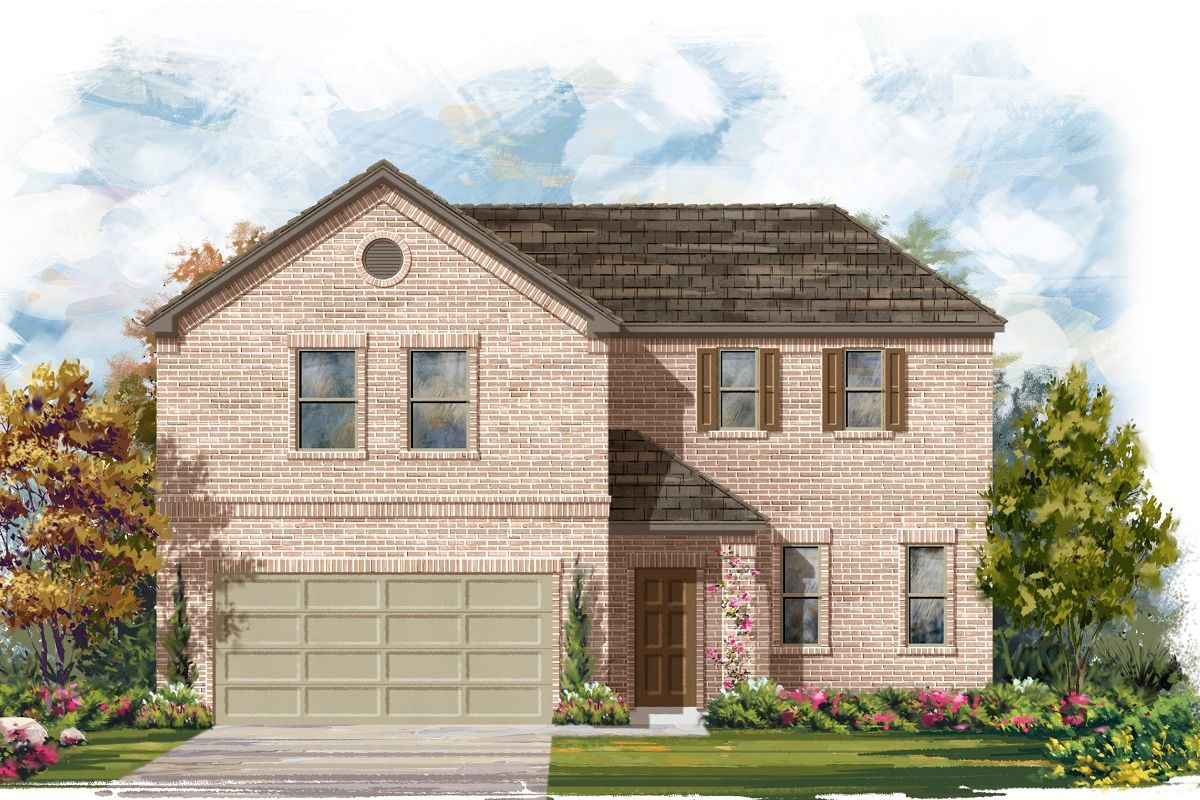Exterior featured in the Plan A-2502 By KB Home in Austin, TX