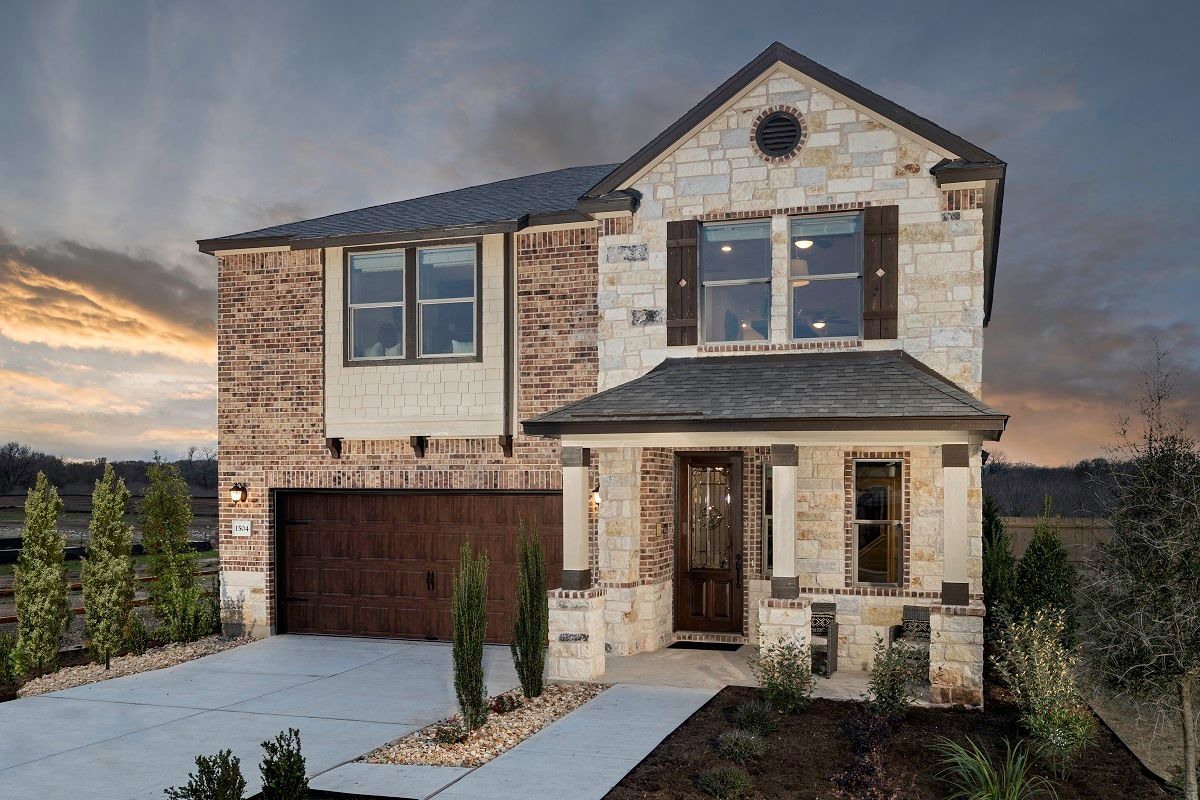 Exterior featured in the Plan E-2412 Modeled By KB Home in Austin, TX