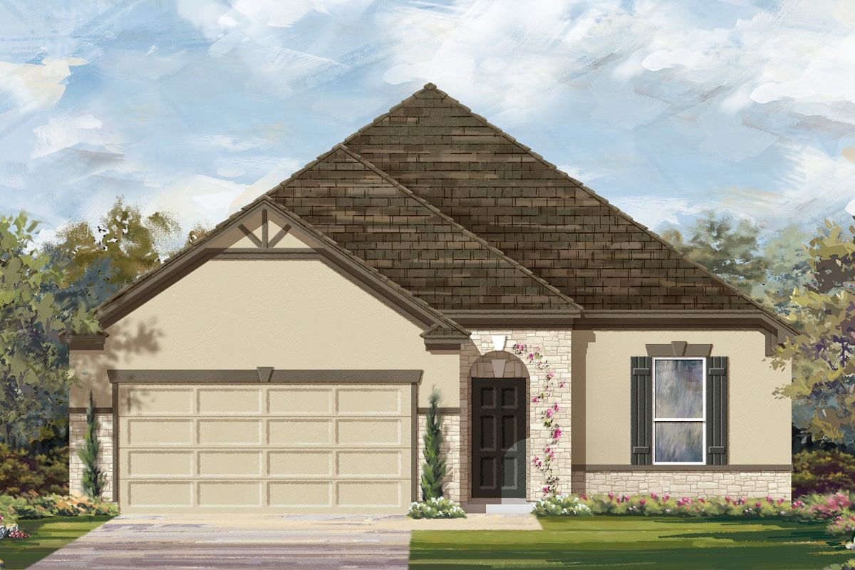 Exterior featured in the Plan 1675 Modeled By KB Home in Killeen, TX