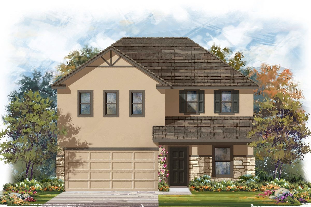 Exterior featured in the Plan 2403 Modeled By KB Home in Killeen, TX