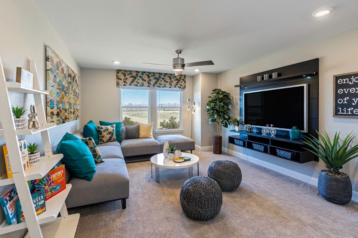 Living Area featured in the Plan 2708 Modeled By KB Home in Austin, TX