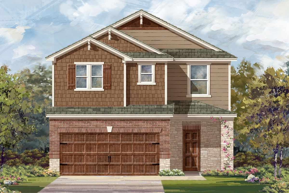 Exterior featured in the Plan 2708 Modeled By KB Home in Austin, TX