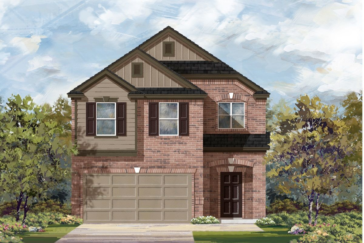 Exterior featured in the Plan 1909 By KB Home in Austin, TX