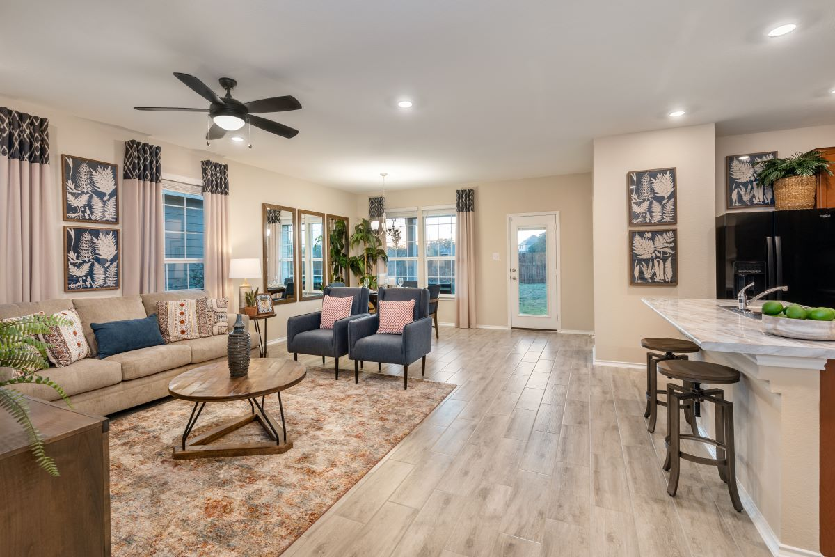 Living Area featured in the Plan 1491 By KB Home in Killeen, TX