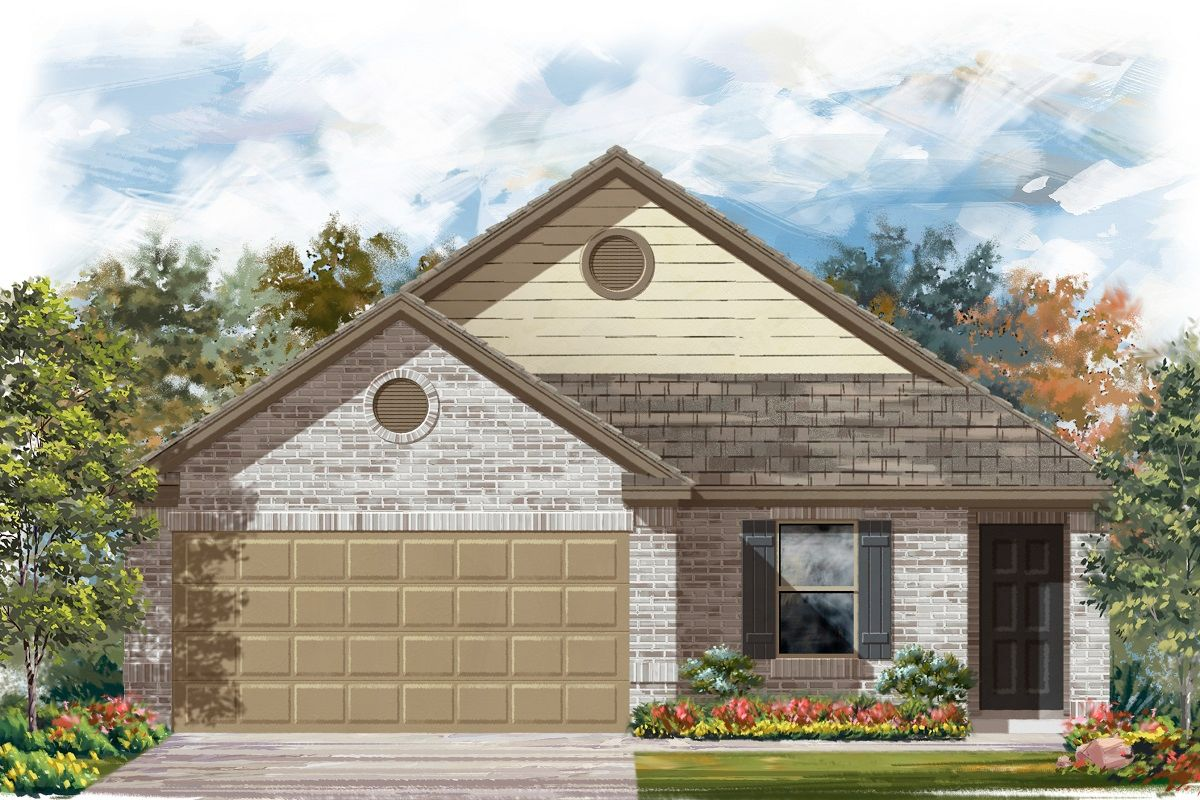 Exterior featured in the Plan 1246 By KB Home in Killeen, TX