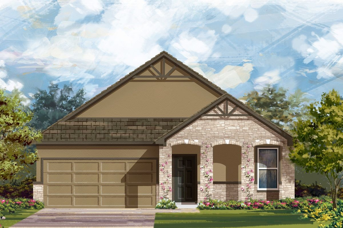 Exterior featured in the Plan 1491 By KB Home in Killeen, TX