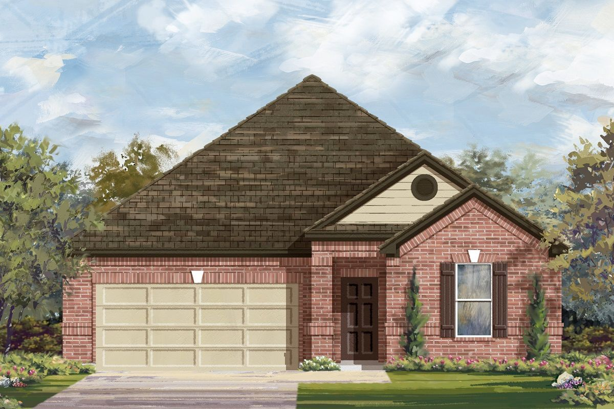 Exterior featured in the Plan 1852 By KB Home in Killeen, TX