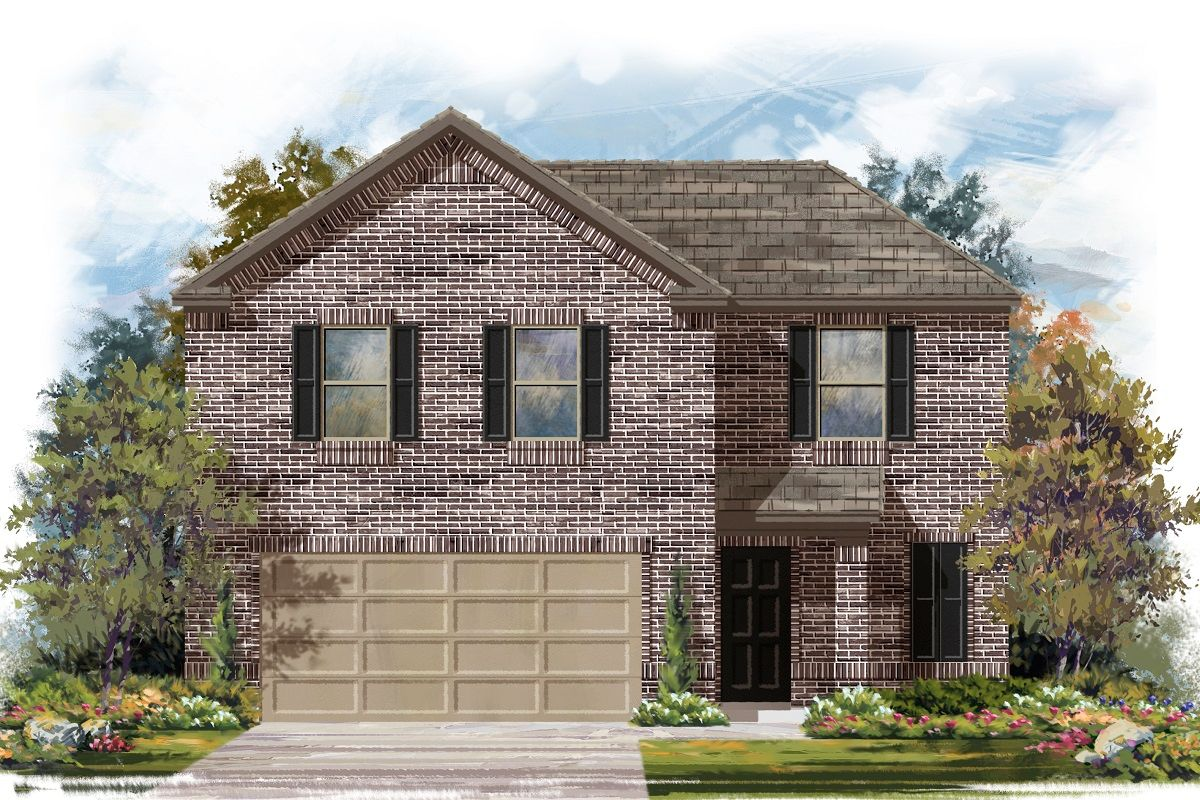Exterior featured in the Plan 1895 By KB Home in Killeen, TX