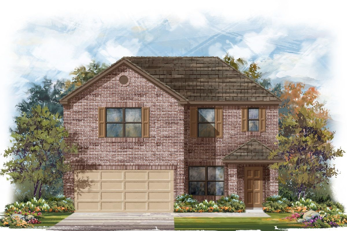 Exterior featured in the Plan 2177 By KB Home in Killeen, TX