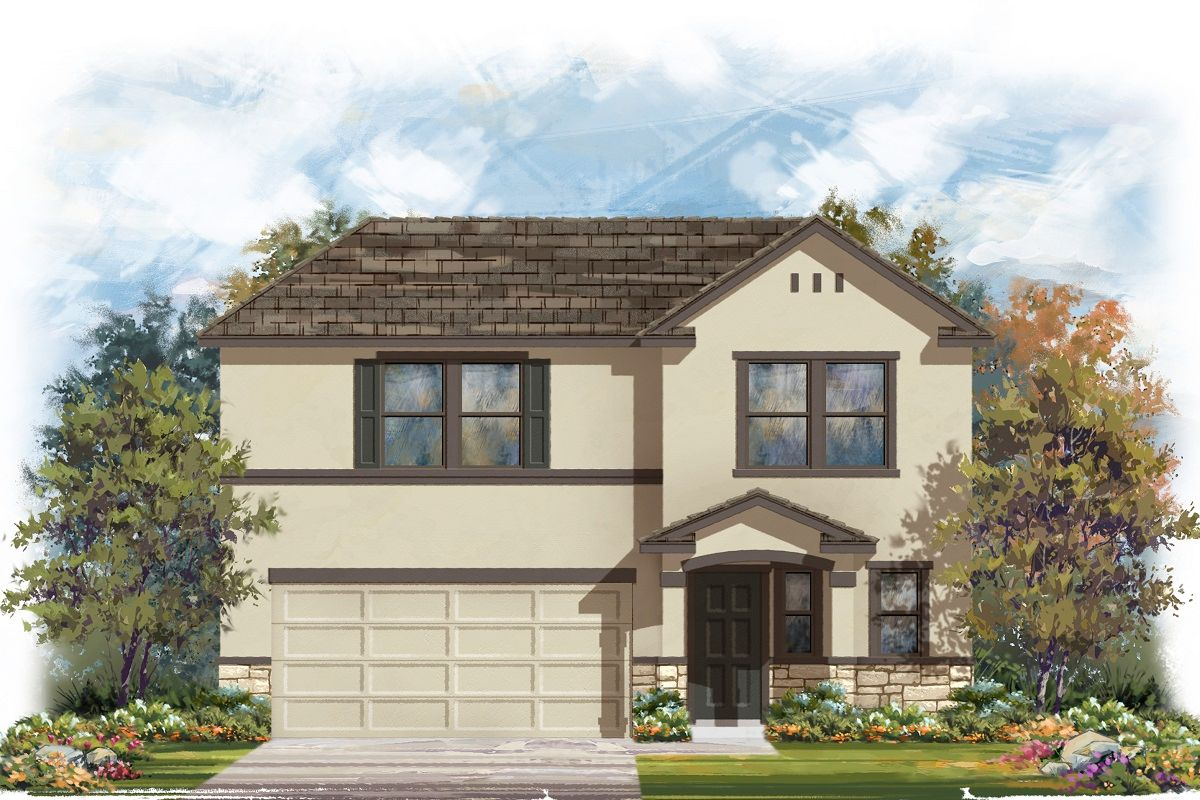 Exterior featured in the Plan 2412 By KB Home in Killeen, TX