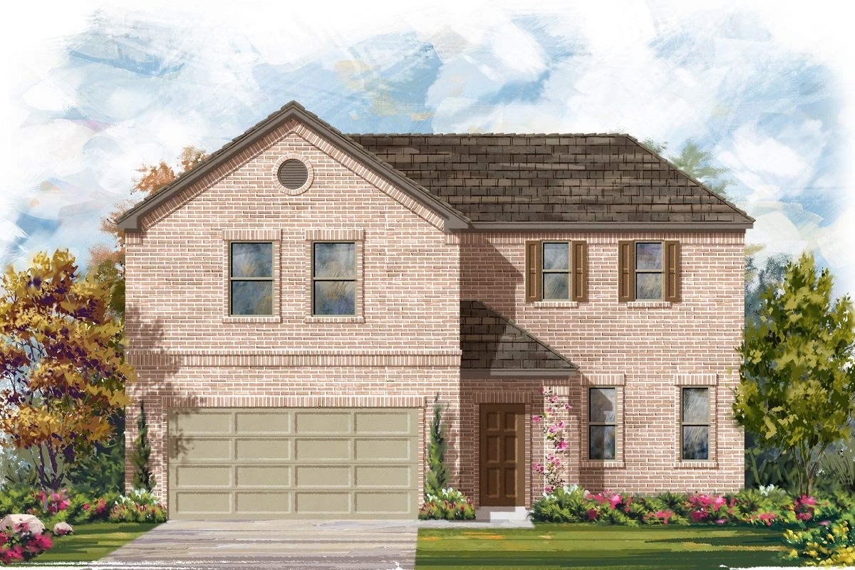 Exterior featured in the Plan 2502 By KB Home in Killeen, TX