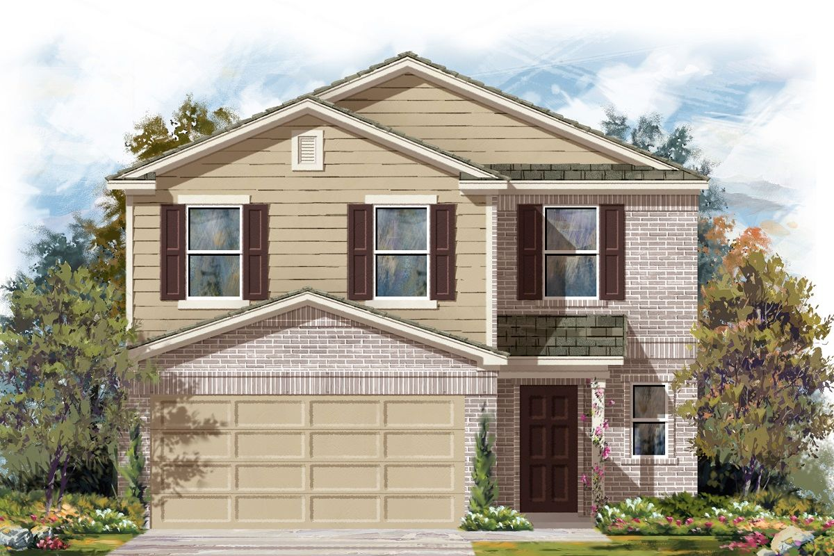 Exterior featured in the Plan 2239 By KB Home in Austin, TX