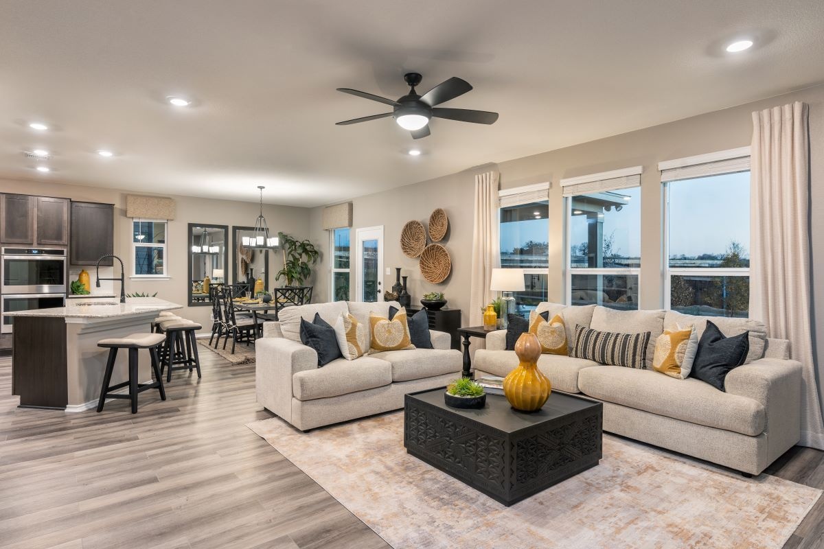 Living Area featured in the Plan 2403 Modeled By KB Home in Killeen, TX