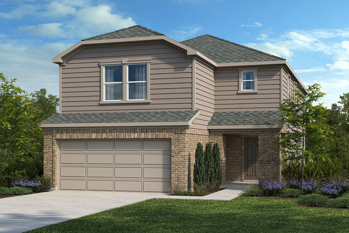 Exterior featured in the Plan 2586 By KB Home in Austin, TX