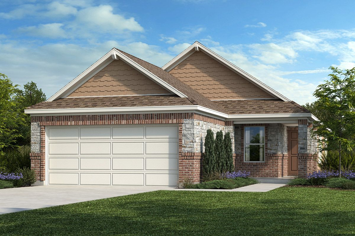 Exterior featured in the Plan 1548 By KB Home in Austin, TX