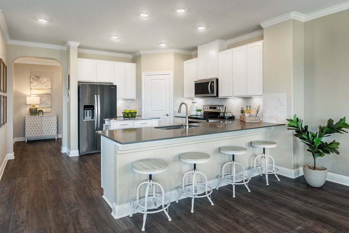 Kitchen featured in the Plan 2458 By KB Home in Austin, TX