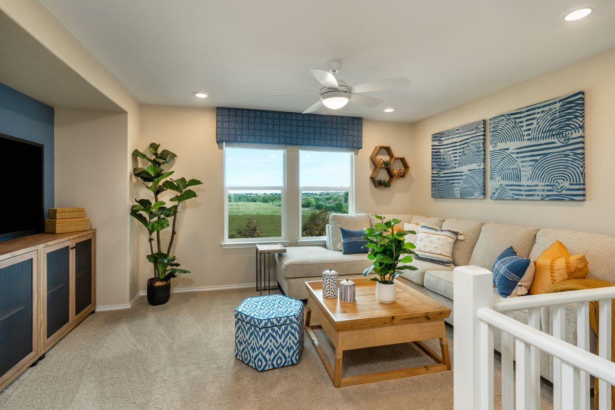 Living Area featured in the Plan 2412 By KB Home in Austin, TX