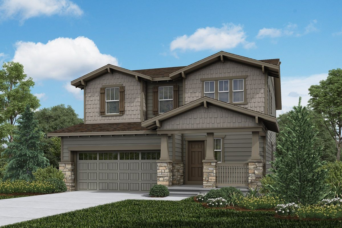 Exterior featured in the Plan 2583 Modeled By KB Home in Denver, CO