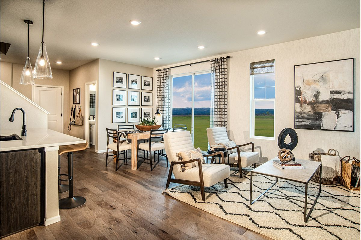 Living Area featured in the Plan 1430 Modeled By KB Home in Denver, CO