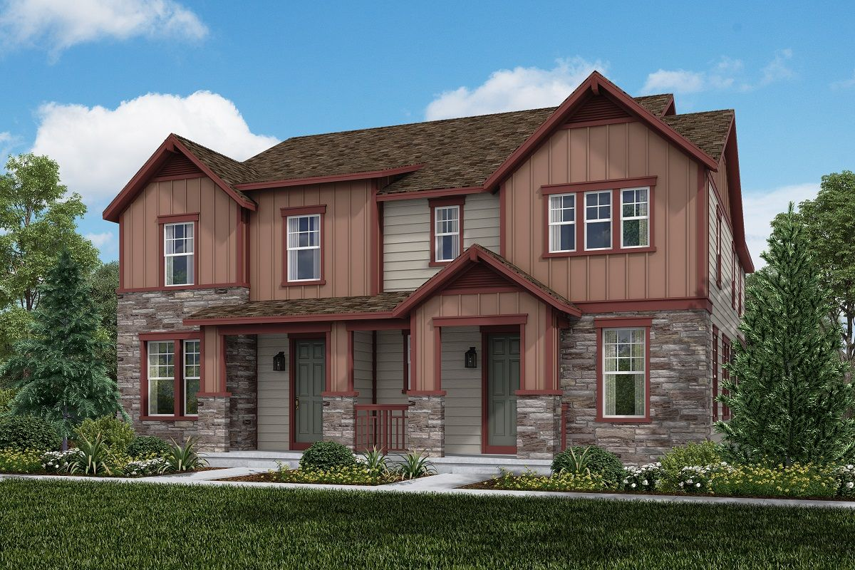 Exterior featured in the Plan 1671 Modeled By KB Home in Denver, CO