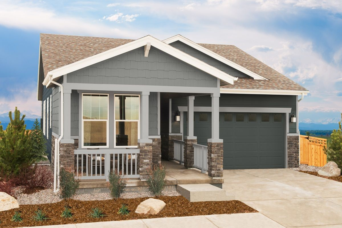 Exterior featured in the Plan 1382 Modeled By KB Home in Denver, CO