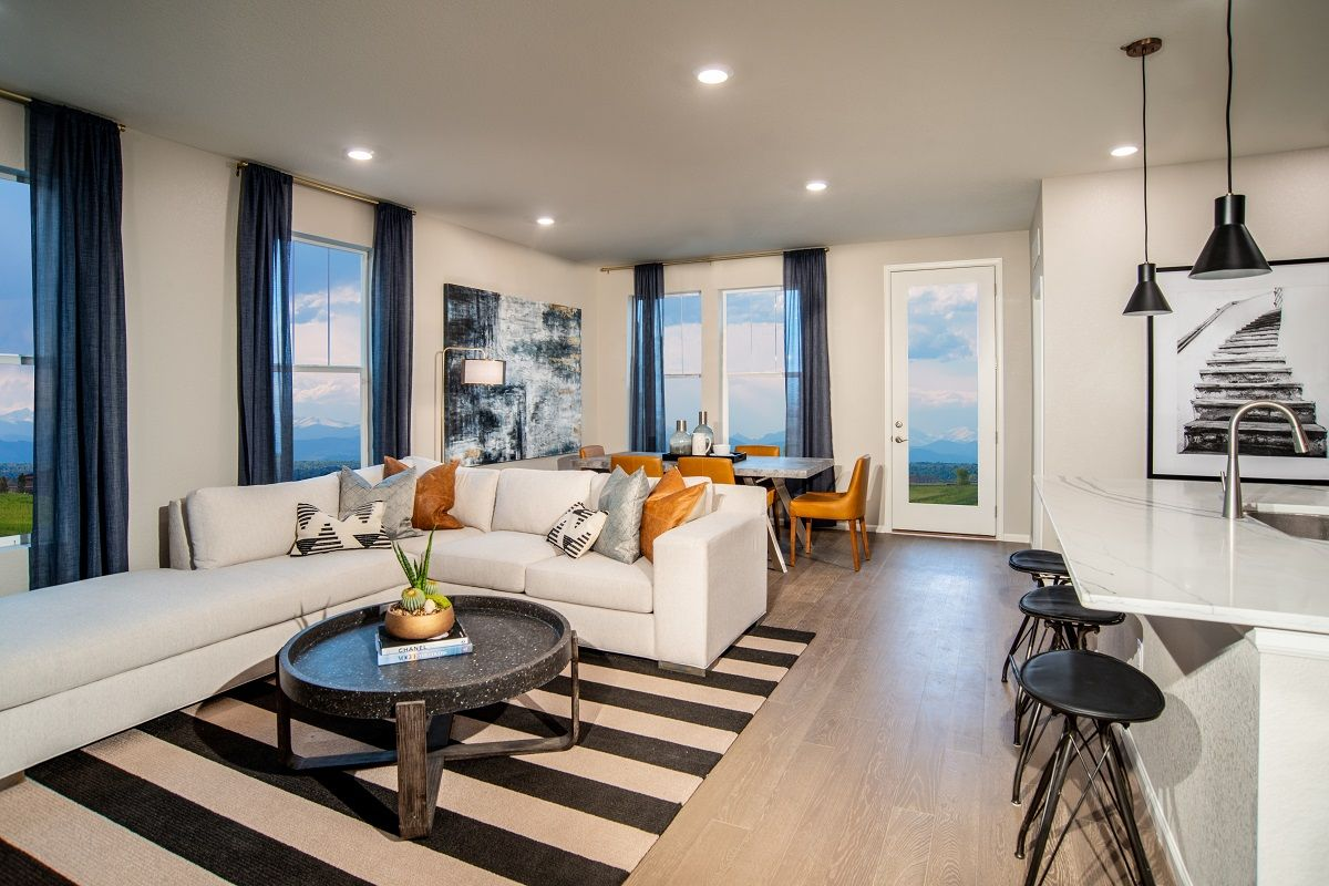 Living Area featured in the Plan 1382 Modeled By KB Home in Denver, CO