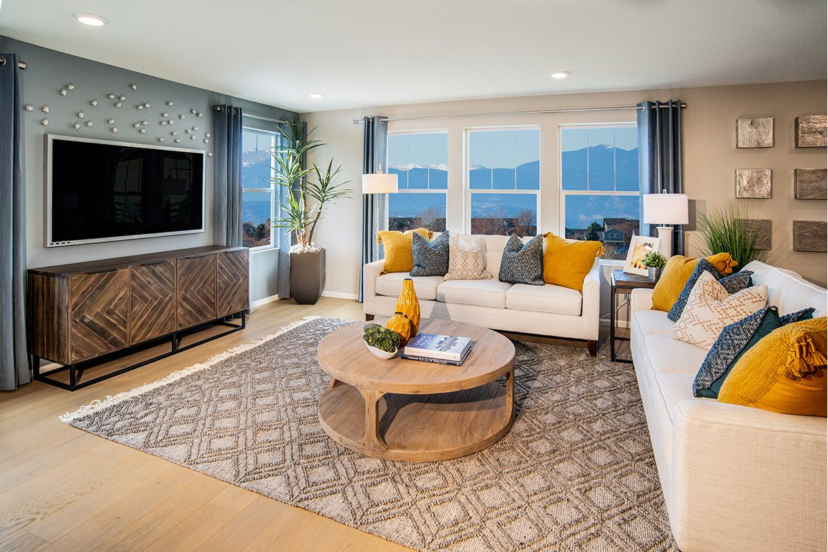 Living Area featured in the Plan 2193 Modeled By KB Home in Denver, CO