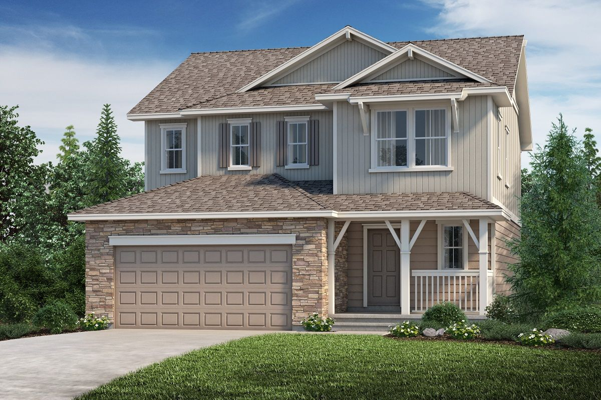 Exterior featured in the Plan 2193 Modeled By KB Home in Denver, CO