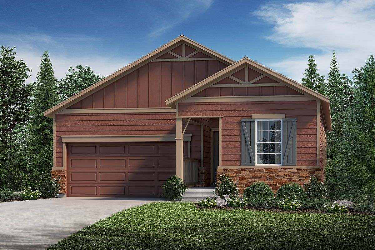 Exterior featured in the Plan 1382 By KB Home in Fort Collins-Loveland, CO