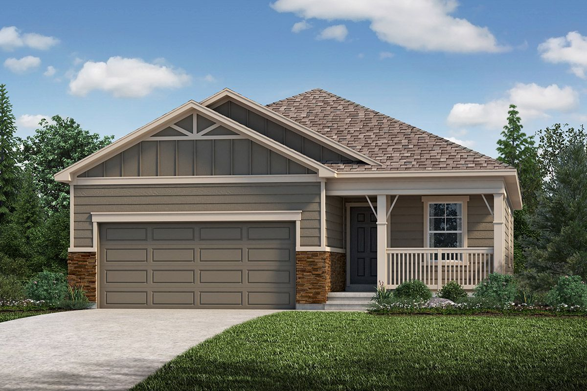 Exterior featured in the Plan 1532 Modeled By KB Home in Fort Collins-Loveland, CO