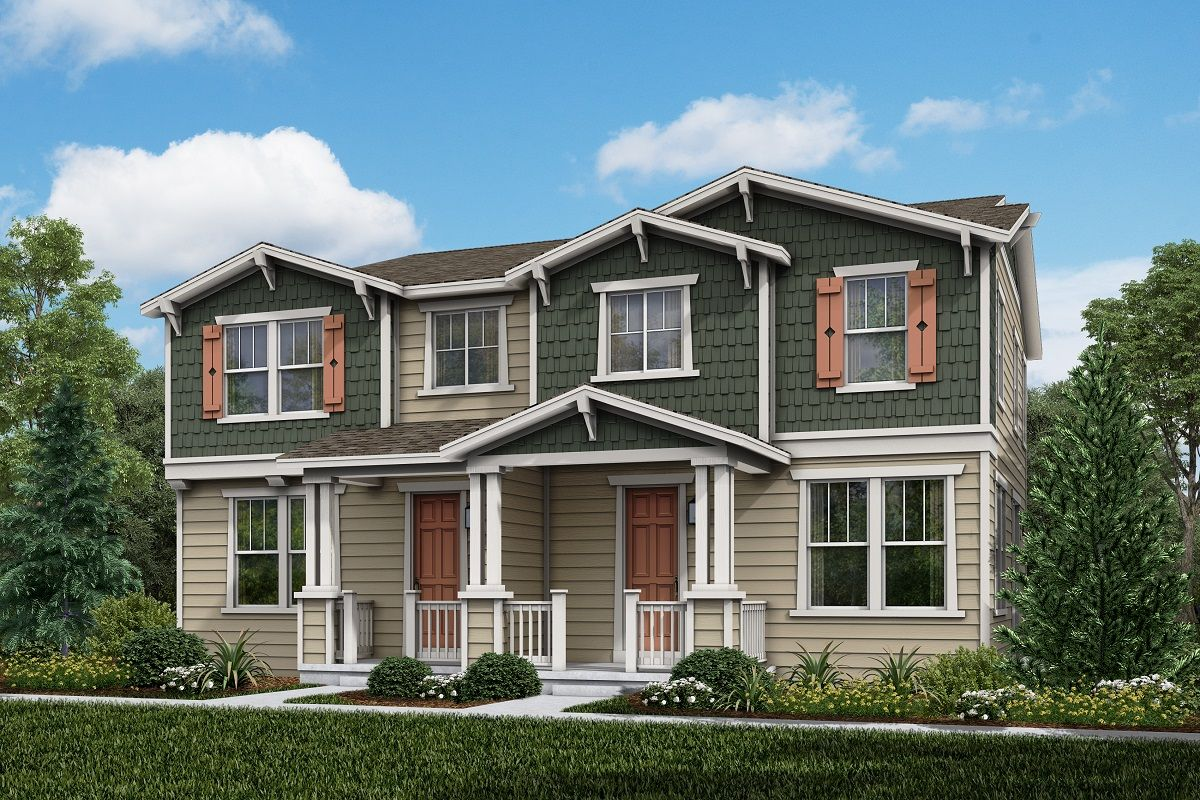 Exterior featured in the Plan 1671 By KB Home in Denver, CO
