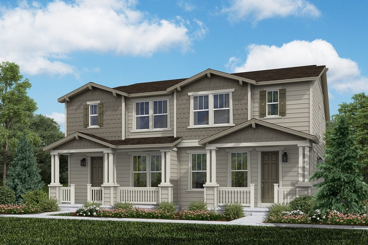 Exterior featured in the Plan 1754 By KB Home in Denver, CO