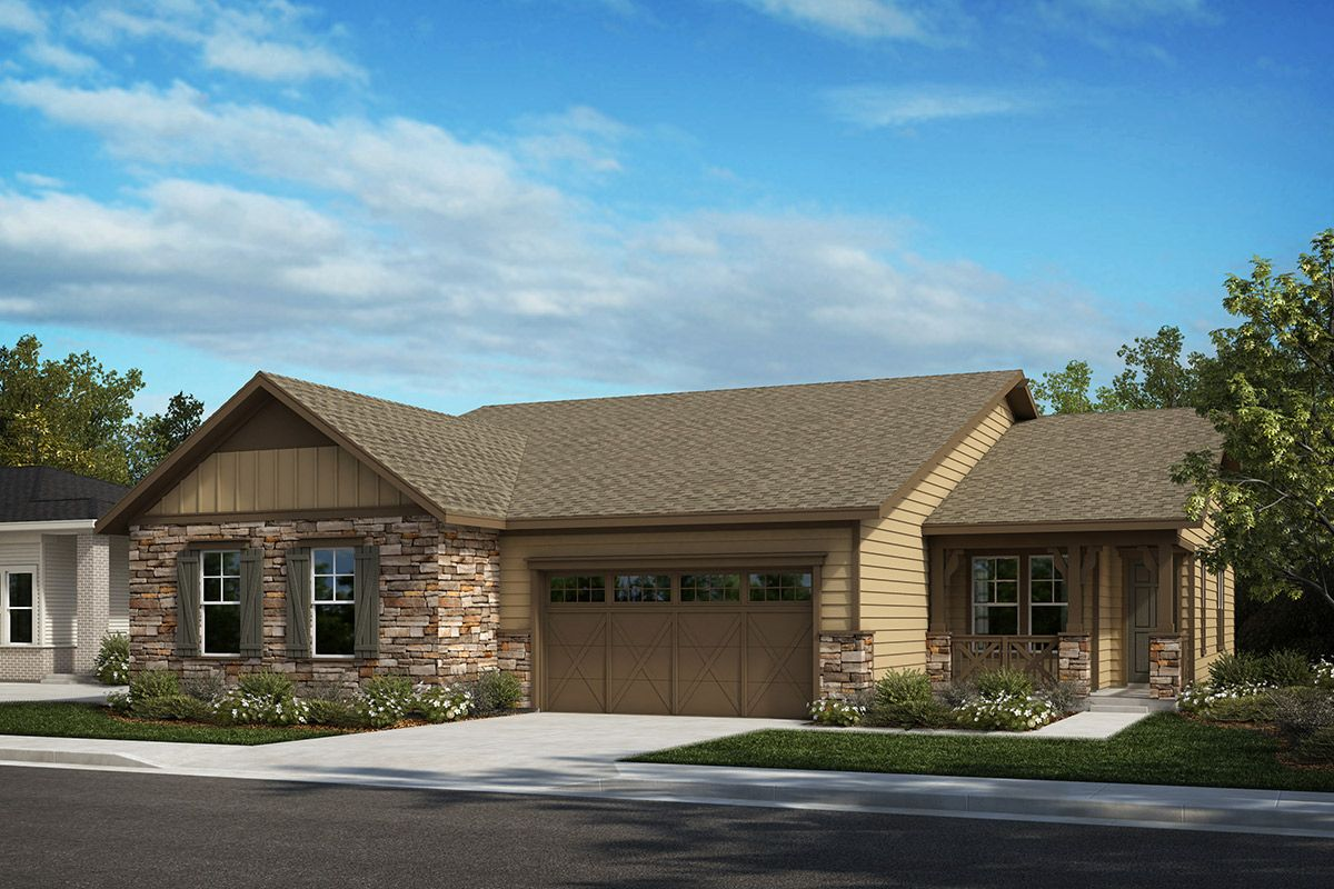 Exterior featured in the Plan 1552 Modeled By KB Home in Denver, CO