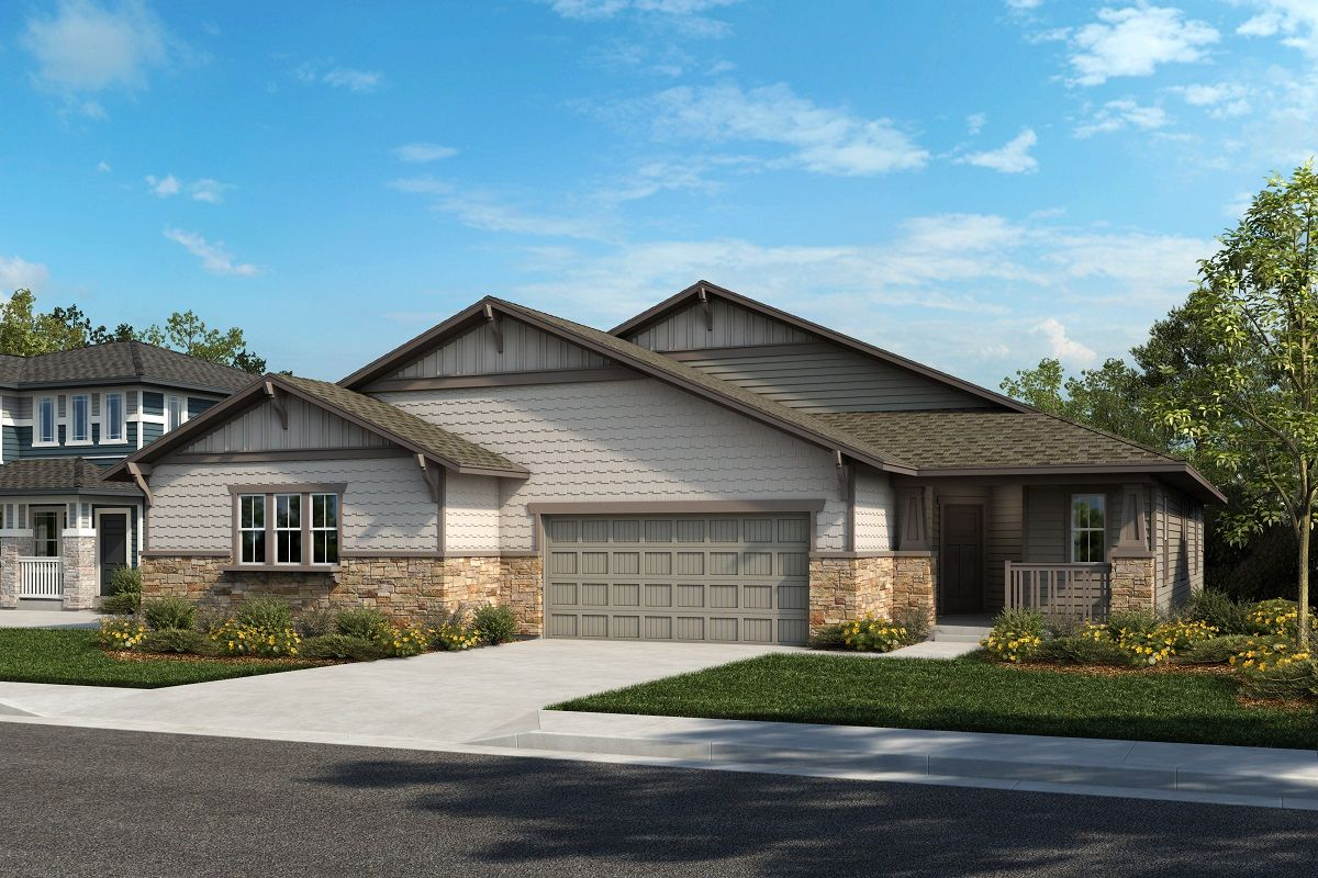 Exterior featured in the Plan 1632 Modeled By KB Home in Denver, CO
