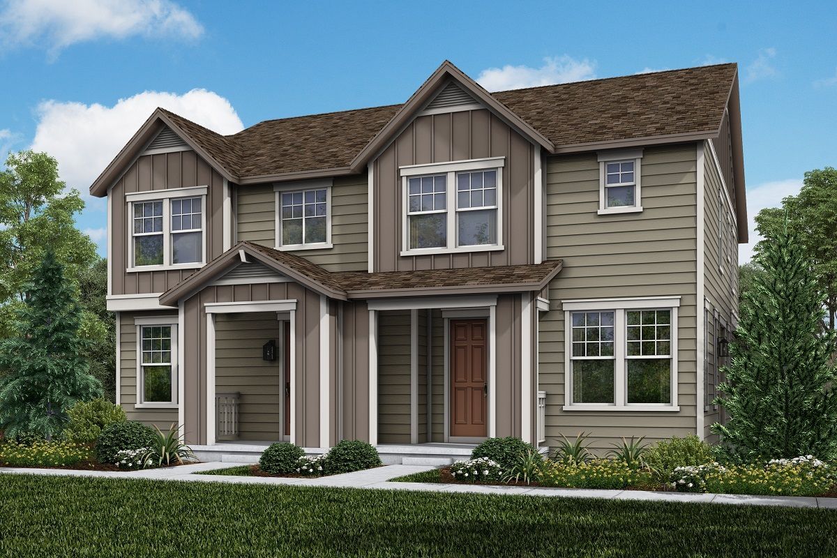 Exterior featured in the Plan 1468 By KB Home in Boulder-Longmont, CO
