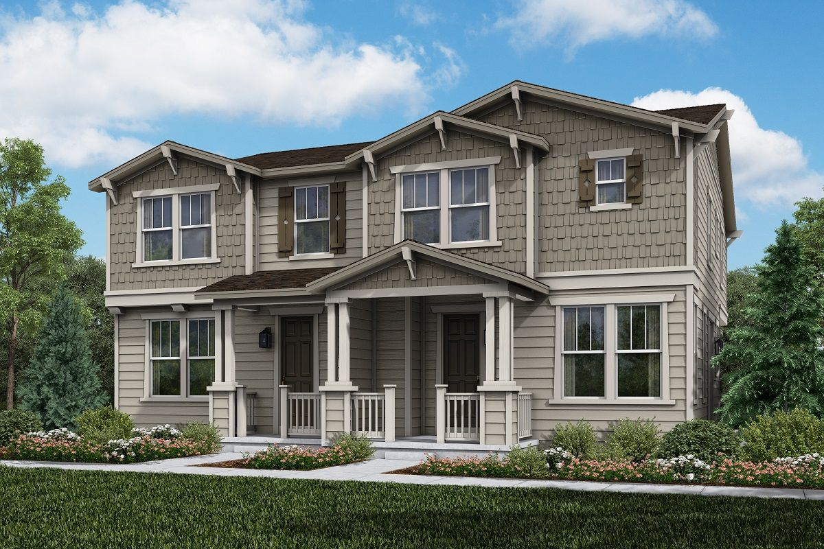 Exterior featured in the Plan 1671 Modeled By KB Home in Boulder-Longmont, CO