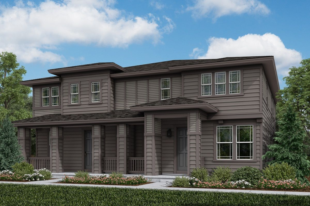 Exterior featured in the Plan 1963 By KB Home in Boulder-Longmont, CO