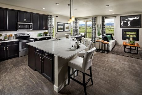 Greatroom-and-Dining-in-Crestview 1716 Modeled-at-The Reserve at Somerset Meadows-in-Longmont