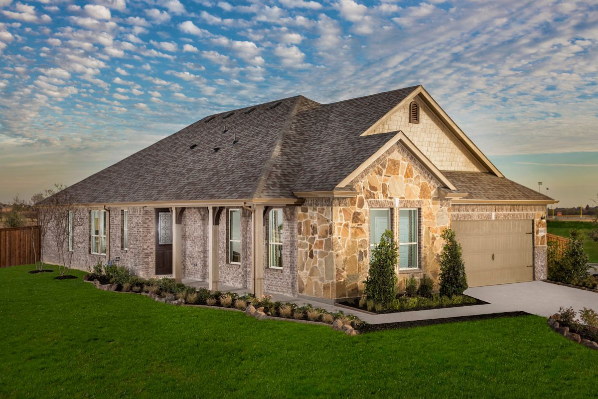 Exterior featured in the Plan 2085 Modeled By KB Home in Fort Worth, TX
