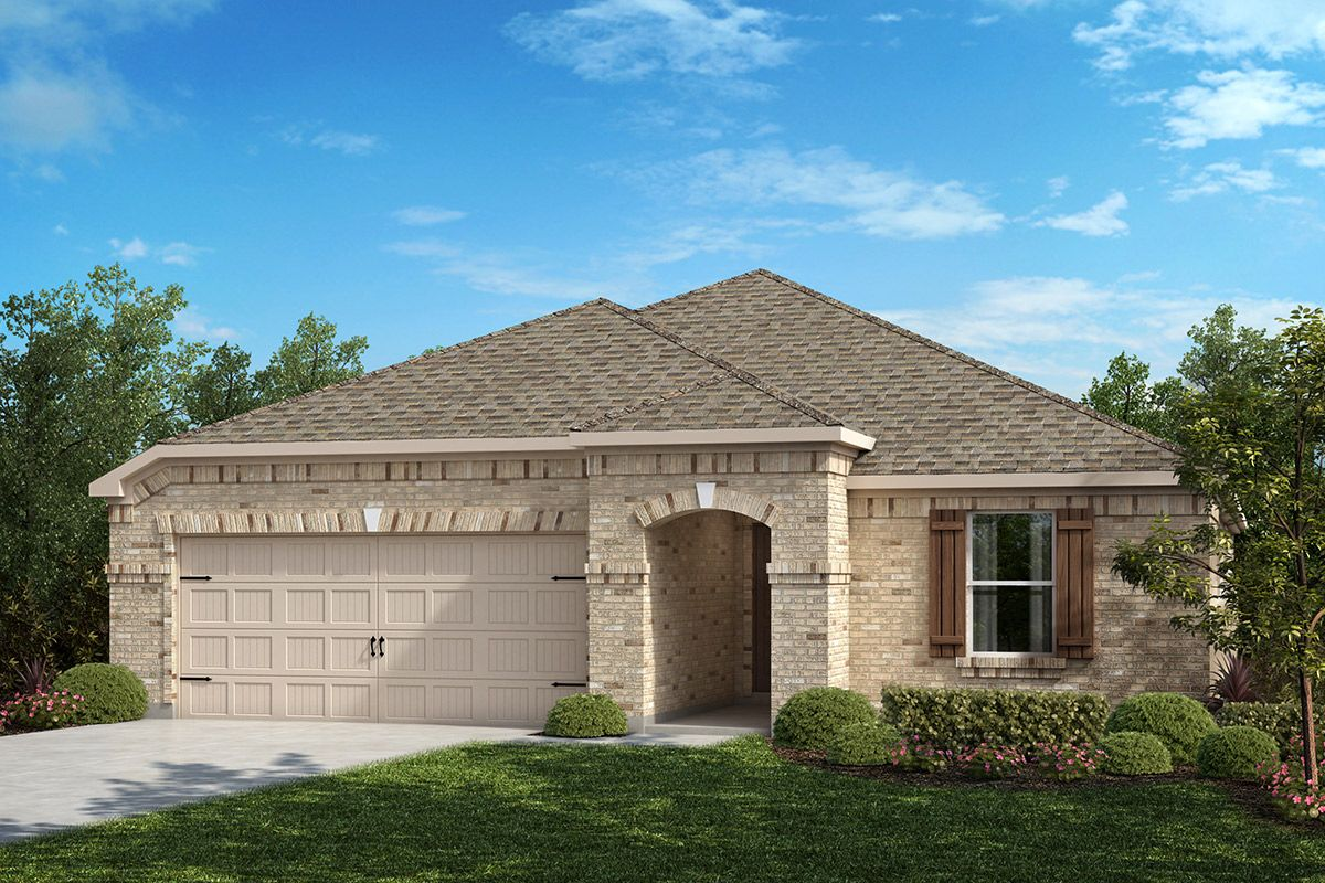 Exterior featured in the Plan 2141 By KB Home in Dallas, TX