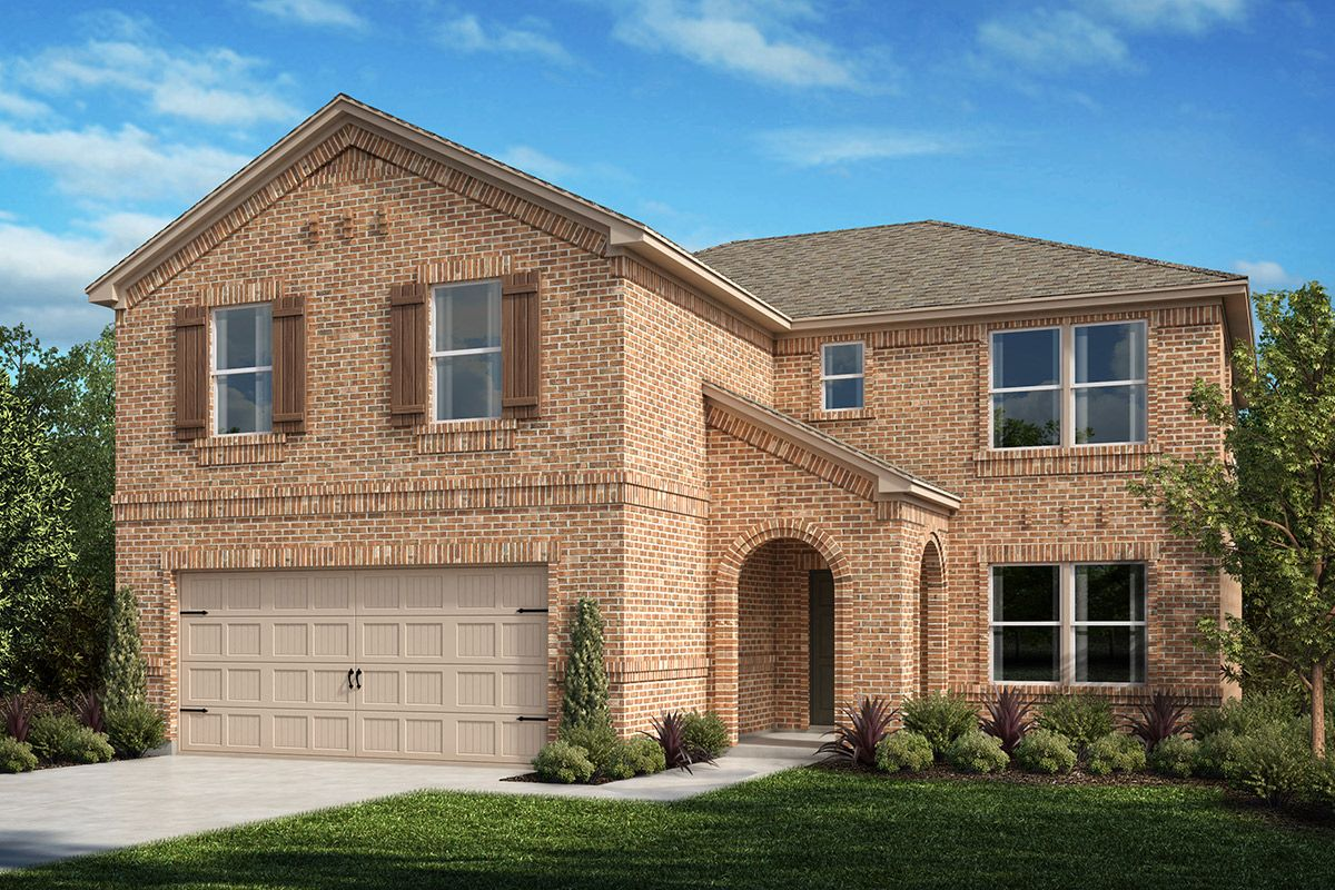 Exterior featured in the Plan 2535 By KB Home in Fort Worth, TX