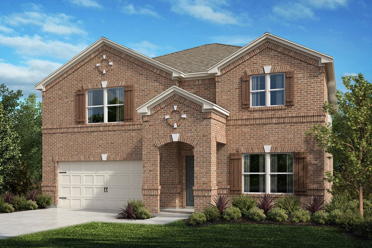 Exterior featured in the Plan 2803 By KB Home in Fort Worth, TX