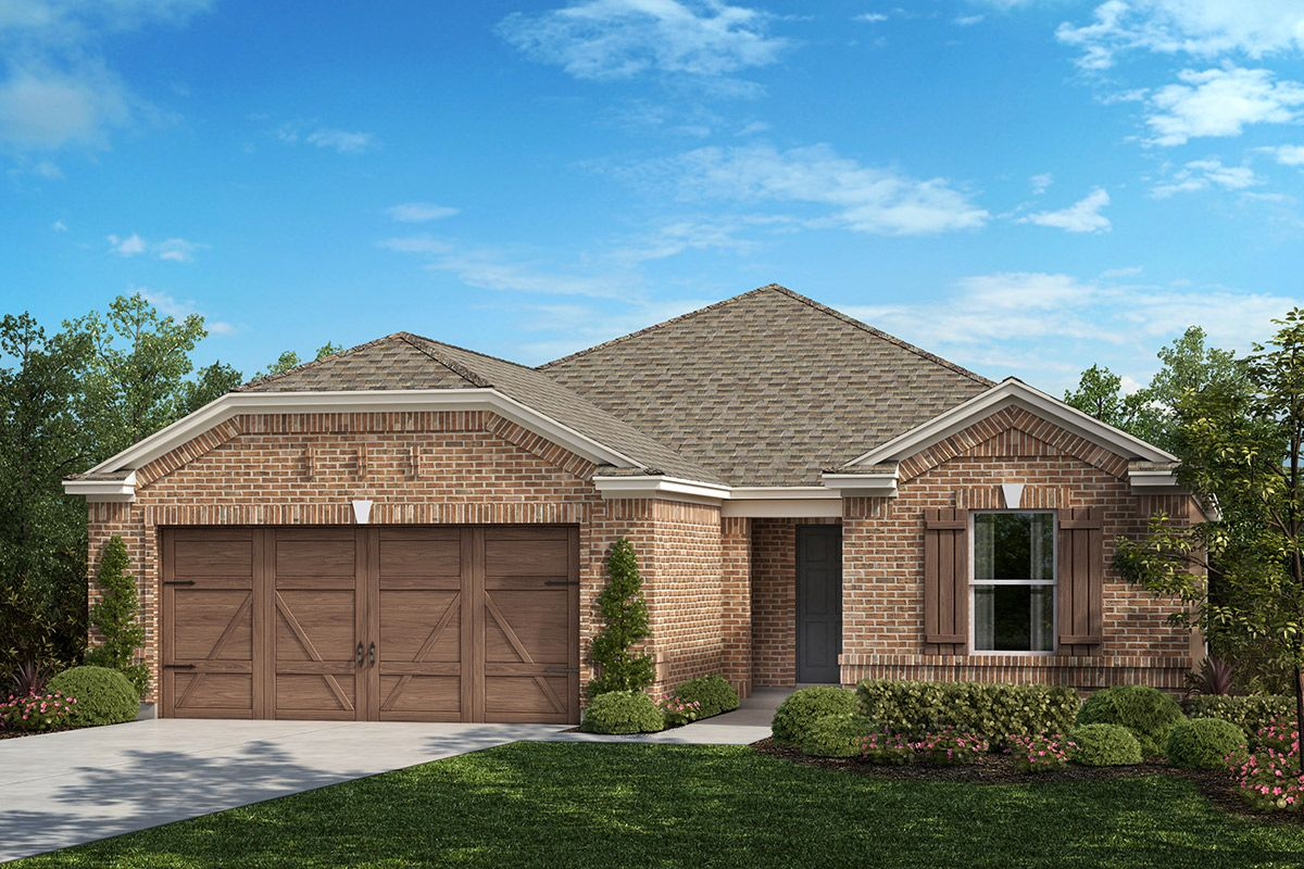 Exterior featured in the Plan 1813 Modeled By KB Home in Dallas, TX