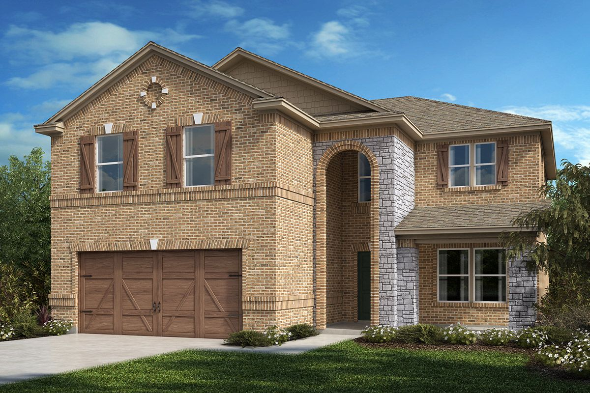 Exterior featured in the Plan 2535 By KB Home in Dallas, TX