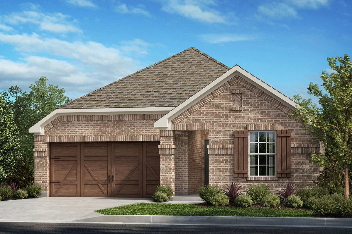 Exterior featured in the Plan 1647 By KB Home in Dallas, TX