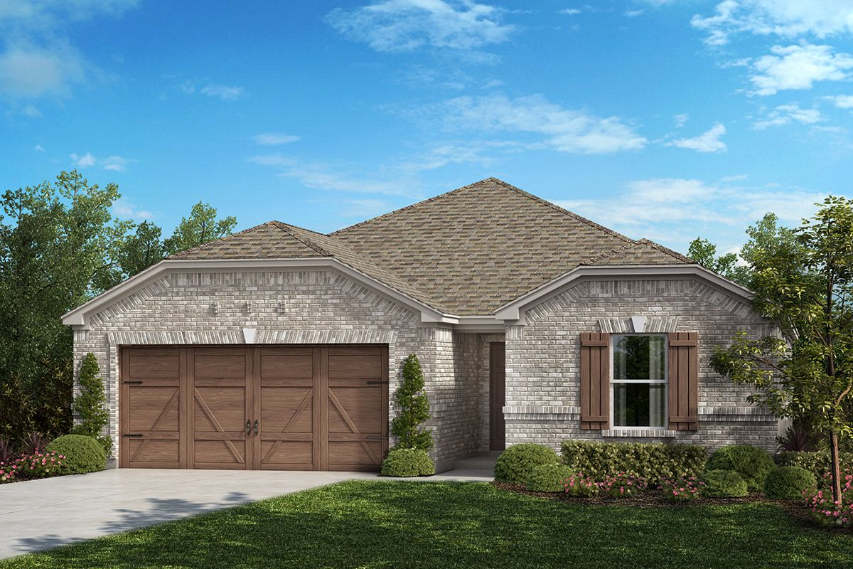 Exterior featured in the Plan 1709 By KB Home in Dallas, TX