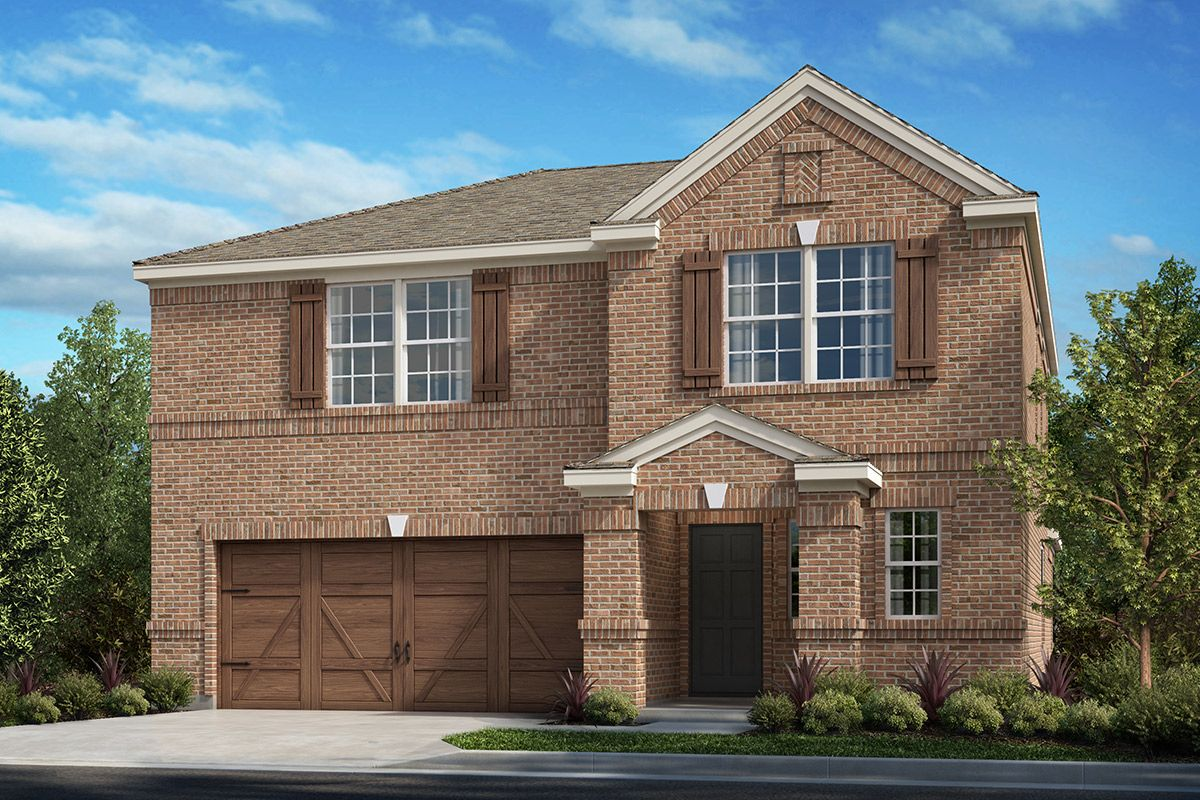 Exterior featured in the Plan 2414 Modeled By KB Home in Dallas, TX