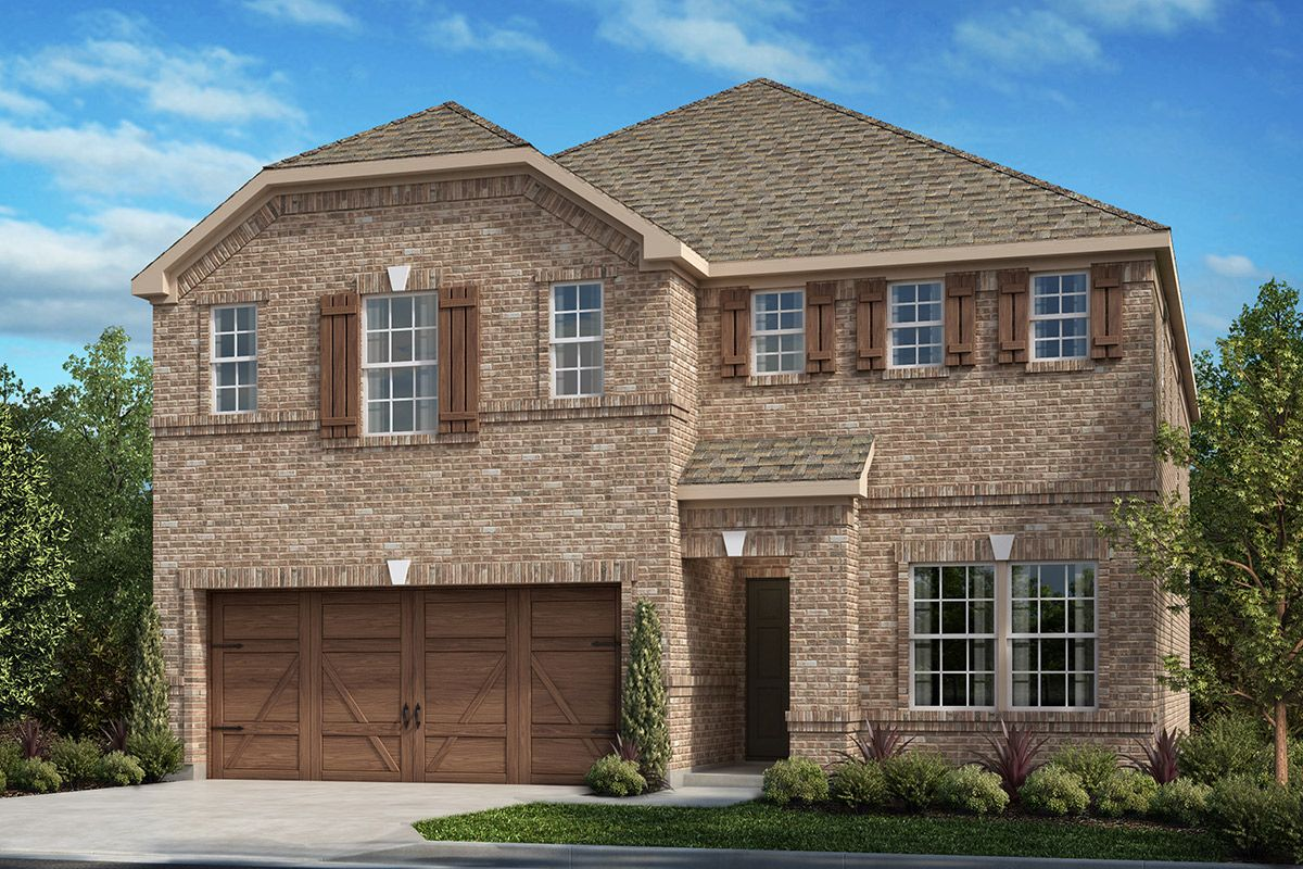 Exterior featured in the Plan 2467 By KB Home in Dallas, TX